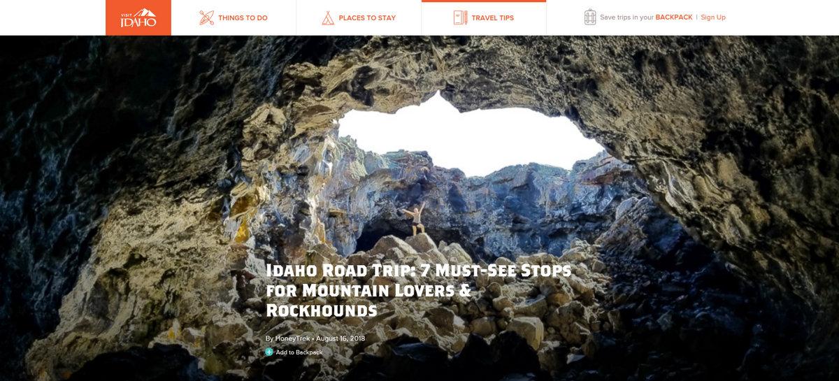Visit Idaho Blog HoneyTrek