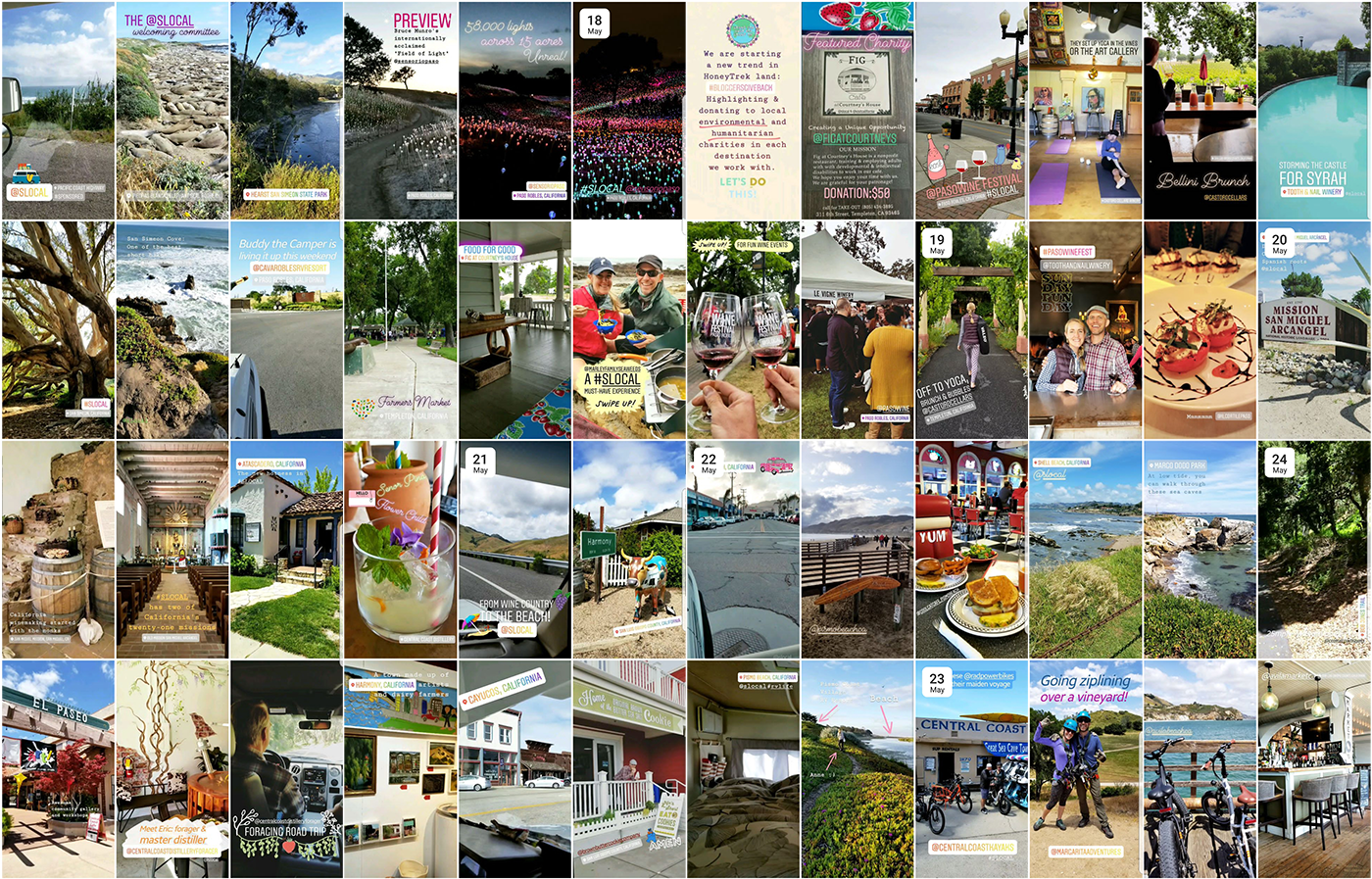 SLO CAL Instagram Stories