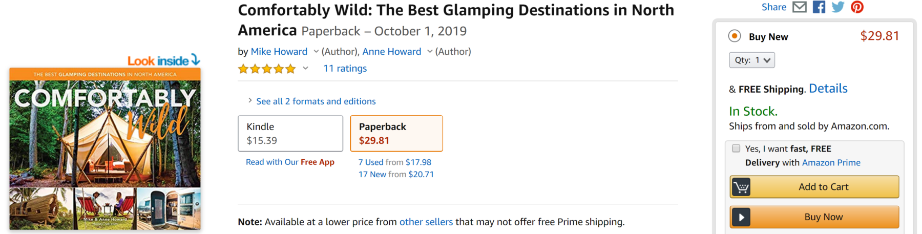 Where to Buy Comfortably Wild Book