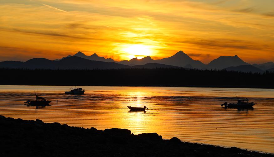 Sunset at Glacier Bay