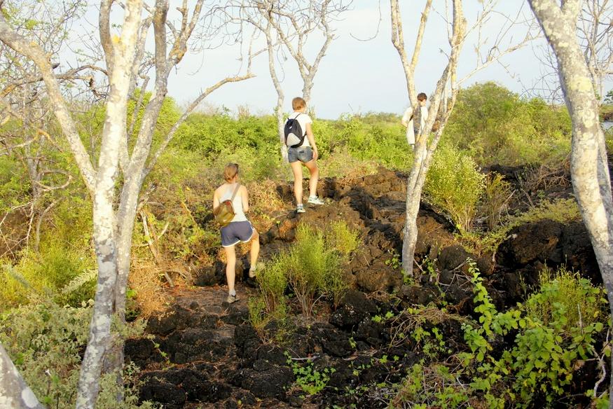 Hike on Floreana Galapagos