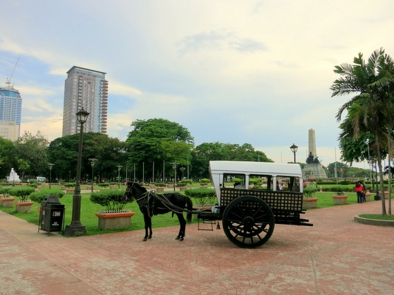 Rizal Parks and horses in Ermita